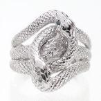 ショッピングプラチナ プラチナ900 ダイヤモンドリング 蛇 へび 指輪 スネークリング ダイヤモンド レディース