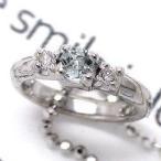 ベビーリング アクアマリン 3月誕生石 k18ホワイトゴールド ダイヤモンド k18WG ネックレスペンダント レディース