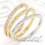 指輪 ハーフエタニティリングリング ダイヤモンド 0.1ct k18ゴールド 18金 レディース ジュエリー アクセサリー