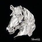 タイニーピン ラベルピン ピンバッジ ブローチ シルバー925 馬 ホース 男女兼用 レディース ジュエリー アクセサリー