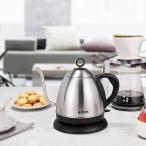 ショッピング電気ケトル Aicok電気ケトル 1.0L湯沸かしケトル 細口ヤカン おしゃれお茶タイプ コーヒードリップ ステンレス製 BPA-FREE 1000W
