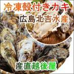 魚介類 水産加工品 貝類 カキ 広島県 呉市 広島カキの老舗 北吉水産の冷凍殻付きカキ 6個入 1パック かき 送料無料