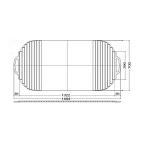 風呂ふた 巻ふた シャッター式 把手付き 700×1484mm EKK709W4 / TOTO