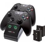 プレステ3 ps3 アクセサリー コントローラー ジョイスティック Venom Xbox One Twin Docking Station with 2 x Rechargeable Battery Packs: Black (Xbox One)