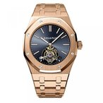 オーディマピゲ メンズウォッチ 腕時計 AUDEMARS PIGUET ROYAL OAK TOURBILLON 41 EXTRA THIN ROSE GOLD WATCH 26510OR.OO.1220OR.01 正規輸入品