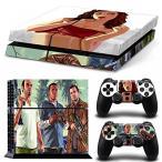 プレイステーション4 ボードゲーム ゲーム FriendlyTomato PS4 Console and DualShock 4 Controller Skin Set - Auto Assasin Theft Videogame - PlayStation 4