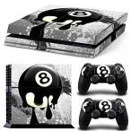 プレイステーション4 ボードゲーム ゲーム GoldenDeal PS4 Console and DualShock 4 Controller Skin Set - Design 8 Ball - PlayStation 4 Vinyl 正規輸入品