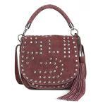 サムエデルマン レディースファッション バッグ Sam Edelman Heidi Studded Saddle Bag 正規輸入品