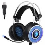 プレステ3 ps3 アクセサリー コントローラー ジョイスティック SADES A9 Gaming Headset USB Over Ear Gaming Headphones with Microphone 7 colors Breathing