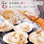其它 - 海鮮バーベキューセット BBQ 詰め合わせ 2種 生 赤えび ほたて セット (5〜7人前) お取り寄せ*冷凍*