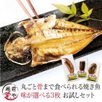 焼かずにそのまま 丸ごと骨まで食べられる 干物 焼き魚 塩・燻製・醤油 選べる 3枚 干物セット 送料無料 ≪ネコポス≫ お取り寄せ