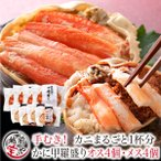 カニ 甲羅盛り 食べ比べ カナダ産 ズワイガニ 4個 日本産 セイコガニ 4個 セット かに 蟹 せいこがに ずわいがに 【送料無料】((冷凍))