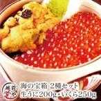 Other - ギフト 海の宝箱  福袋 海鮮 2種 生 うに ウニ 200g & いくら 醤油漬け 200g イクラ セット 福袋((冷凍))