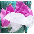 ショッピング兵児帯 お子様二重合せ兵児帯 パープル/紫 子供浴衣帯 兵児帯とオーガンジー飾り帯が合体 ダブルボリュームアップ帯 ゆかた帯