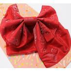 ショッピング兵児帯 子供 浴衣帯 片長結び帯 赤2柄 キッズ兵児帯 ジュニア帯 ゆかた帯