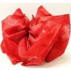 ショッピング兵児帯 子供浴衣帯 兵児帯 桜赤 こどもゆかた帯