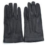 デンツ(DENTS)《No.15-1041 メンズ用グローブ(手袋/glove)ペッカリー(南米の猪豚科/幻の革・独特のしぼ感のある革/Peccary)ライニングなし》BLACK
