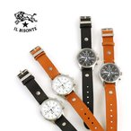イルビゾンテ IL BISONTE レザー カレンダー付き クォーツ式 クロノグラフ 腕時計 リストウォッチ(L)・54162304197-A-0061601・レディース