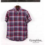 ショッピングジムフレックス ジムフレックス Gymphlexリネン チェック 半袖 ボタンダウン シャツ・J-0937LPL-0321501・メンズ・レディース【JP】