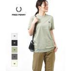 フレッドペリー Tシャツ クルーネックTシャツ RINGER T-SHIRT リンガーTシャツ FRED PERRY 2020春夏新作 レディース 国内正規品 メール便可能5
