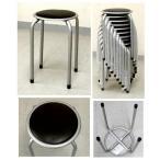 パイプ 丸椅子 ブラック  1.4kg [PC-01-22 ブラック]