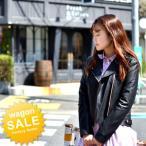 ライダース ジャケット レディース 送料無料 合成皮革 本革風 フェイクレザー ブルゾン 大きいサイズ有りM/Lサイズ