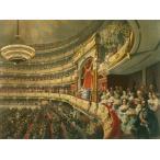 油絵  ボリショイバレエの公演