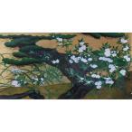 漆絵 長谷川等伯の名作「松に秋草図」右隻