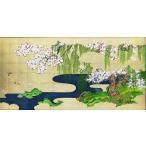 特価漆絵 土佐光起の名作「春秋花鳥図」右隻