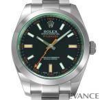ROLEX ロレックス ミルガウス Ref.116400GV ブラック(グリーンサファイアガラス)