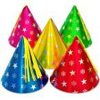 【大人・子供兼用サイズ】スタースノーホイル帽子【小】(三角帽子) 1個