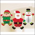 吊下げデコレーション クリスマスキャラクター3個セット / 装飾 飾り