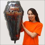 ショッピングNO 装飾用ハロウィンバルーン 棺桶-coffin H87cm /メール便5枚まで可
