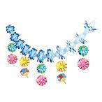 夏装飾 ひまわり2段センター W60cm / 向日葵 ヒマワリ 飾り ディスプレイ
