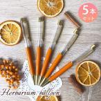 ハーバリウムボールペン 手作り キット 本体のみ 5本セット 中栓改良タイプ ゴールド ハンドメイド オリジナル ペン ハーバリウム レジン オレンジ 5本セット