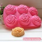 【Ever garden】 バラ 花 薔薇 シリコンモールド / アロマハイストーン / 手作り 石鹸 / 樹脂 粘土 / レジン / シリコン モー