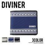 財布 メンズ サイフ 二つ折り ウォレット 二つ折り財布 オルテガ柄 ネイティブ柄 春服 春新作 DIVINER ディバイナー