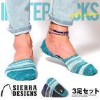 靴下 3足セット セット メンズ インステップソックス ボーダー柄 スニーカーソックス ブランド SIERRA DESIGNS シェラデザイン