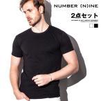 Tシャツ メンズ 半袖Tシャツ 無地 白 ホワイト ブラック 黒 夏 夏服 夏物 ビター系 NUMBER (N)INE ナンバーナイン
