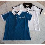 ボーイズ 男の子 天竺無地袖ライン襟配色BACK刺繍 半袖 ポロシャツ p.n.p