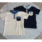 【ボーイズ/男の子】ダンガリー襟パラシュート釦半袖ポロシャツ p.n.p