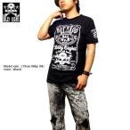 Tシャツ メンズ バイカー ロック ブラック 黒 ビリーエイト スカル