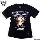 ルーニーテューンズ Tシャツ 半袖 メンズ タスマニアンデビル キャラクター プリント ブラック 黒