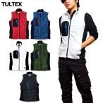 TULTEX フリースベスト メンズ フリース ベスト ジップアップ ハイネック ファスナー 軽量 秋 冬 3L アウトドア 防寒 暖かい