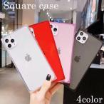 (あすつく) iPhoneケース クリアケース スクエア型 iPhone11Pro iPhone11 iPhone11ProMax iPhoneXS iPhoneX iPhone8 iPhone7 iPhone6  Plus
