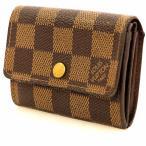 ルイヴィトン Louis Vuitton ダミエ ポルトモネ・プラ N61930 二つ折財布 レディース 【sa】【中古】