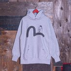 SWEAT HOODIE (KAMOME-GOD-FACE/GRAY)/スウェット/EVISUジーンズ