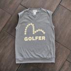 EVISUエヴィス GOLFER JERSEY VEST/イングランド製/グレイ/ベスト/ゴルフウェア/EVISUジーンズ
