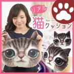 リアル猫クッションBIG かわいい猫の大きいクッション かわいい 猫クッション 大きい 猫グッズ 送料無料 クッション リアル猫 猫雑貨 ネコ お