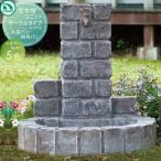 ガーデンパン 立水栓 ニッコーエクステリア かわいい  【立水栓ユニットサークルタイプ】丸型パン・四角パン